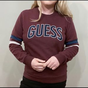 Guess Classic Maroon Sweater Dark Academia Vibes